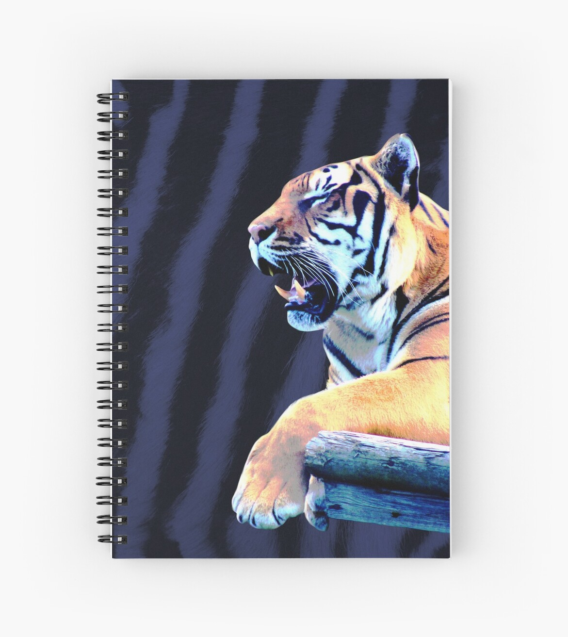 Tiger and stripes in blue by chihuahuashower