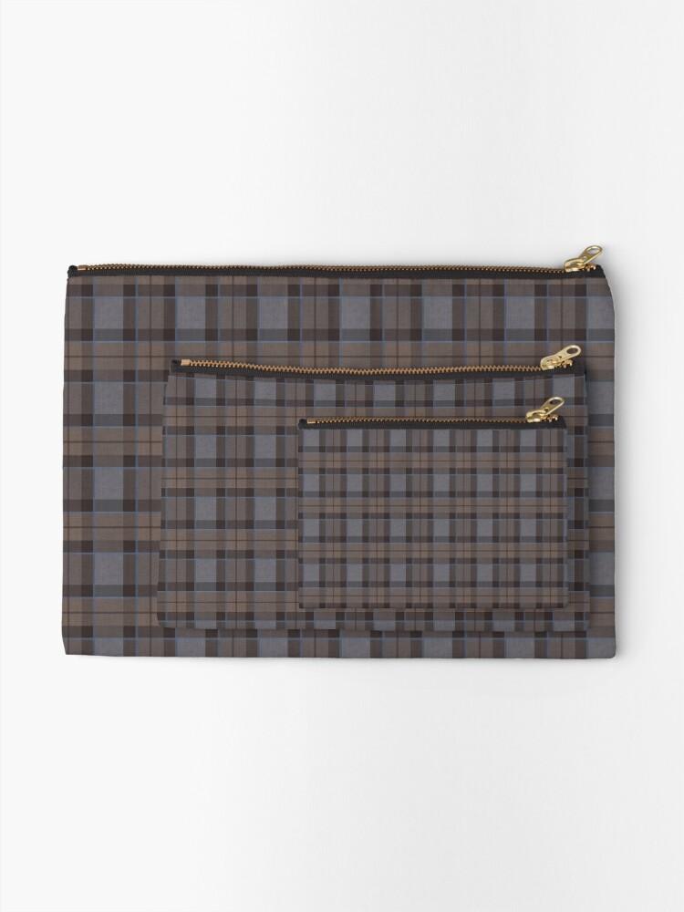 Alternate view of outlander tartan - fraser tartan Zipper Pouch