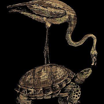 Flamingo turtle by GeschenkIdee