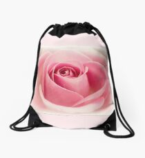 Dreamy Pink Roses Drawstring Bag