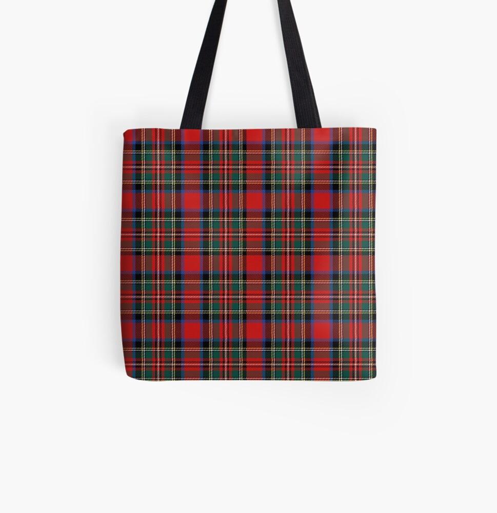 tartan stuart outlander All Over Print Tote Bag
