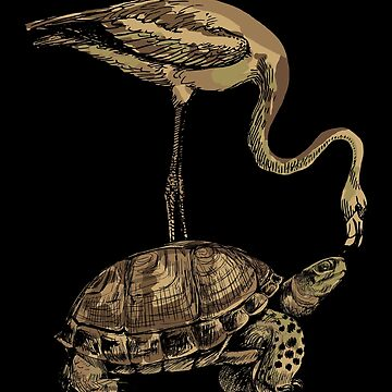 Turtle flamingo by GeschenkIdee