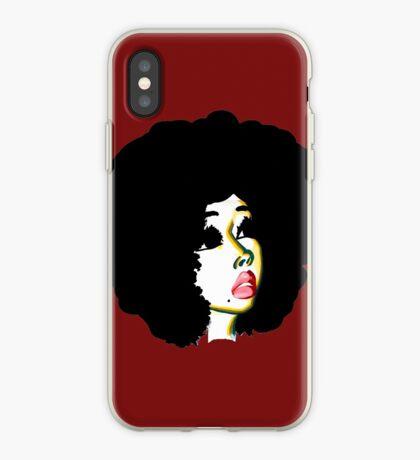 Schauen Sie über Ihre Zukunft hinaus Afro Hair Natural Hair Art iPhone-Hülle & Cover
