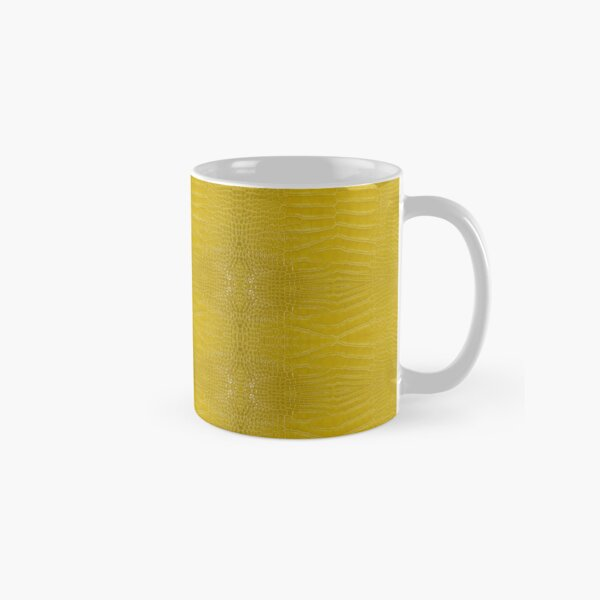 Yellow Alligator Skin Classic Mug