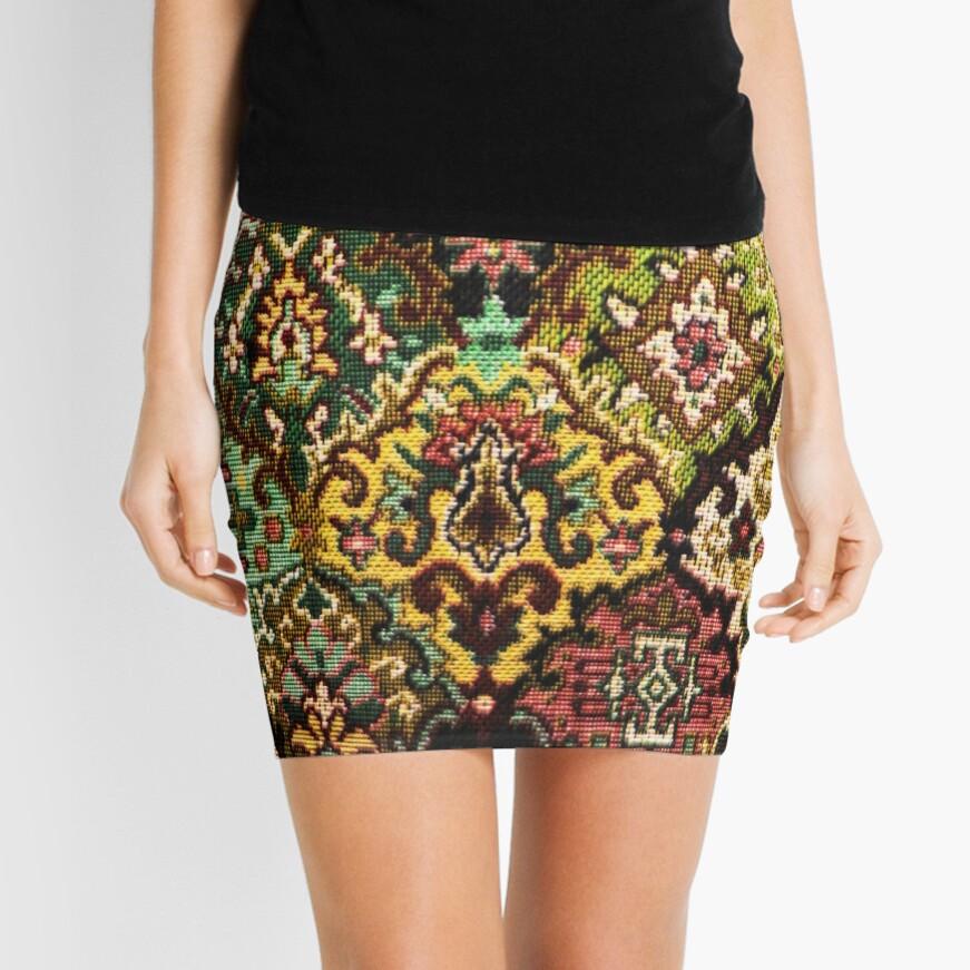 Tapestry Mini Skirt