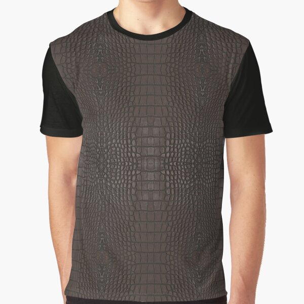 Brown Gator Leather Skin Graphic T-Shirt