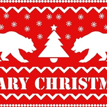 Beary Christmas Jumper Design for Hairy Bear Lovers by CreativeTwins