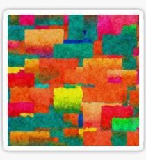 Watercolors rectangles Sticker