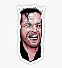Jack Nicholson The Shining Here's Johnny Sticker