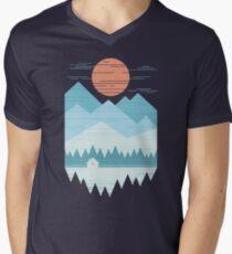 Cabin In The Snow Men's V-Neck T-Shirt