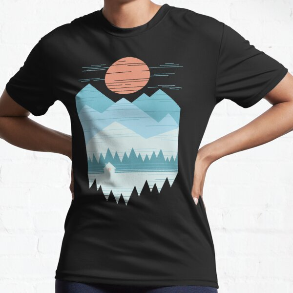 Cabin In The Snow Active T-Shirt