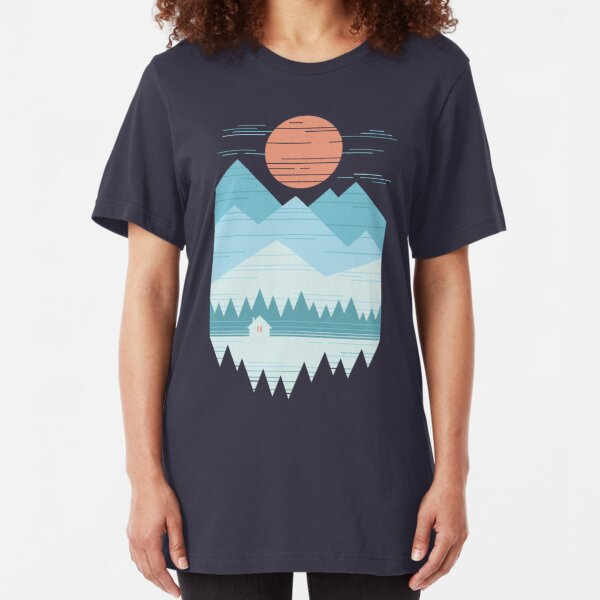Cabin In The Snow Slim Fit T-Shirt