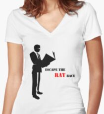 Business - Rat Race Women's Fitted V-Neck T-Shirt