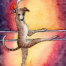 Greyhound Dog Ballerina by SusanAlisonArt