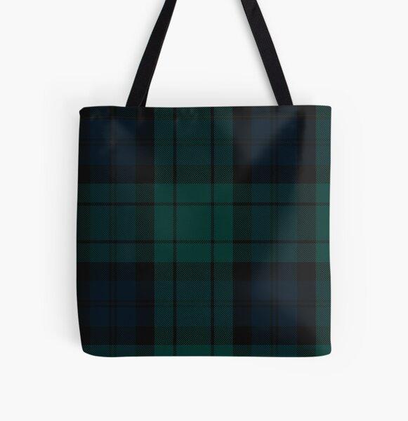 Black Watch tartan All Over Print Tote Bag