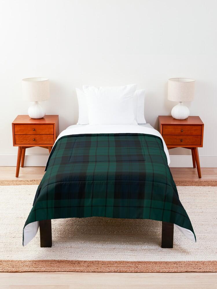 Alternate view of Black Watch tartan Comforter