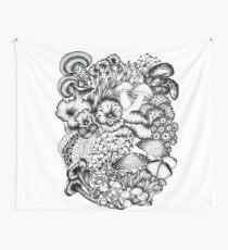 A Medley of Mushrooms Wall Tapestry