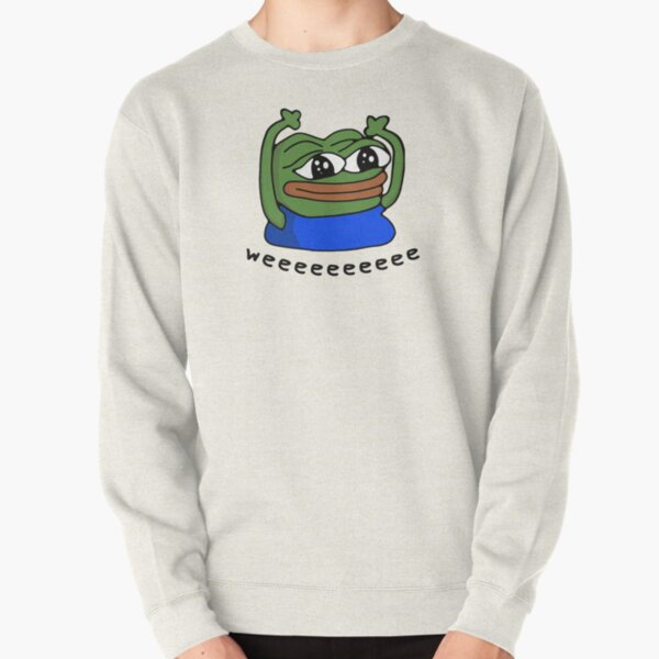 Hypers Emote Pattern with Text Pullover Sweatshirt