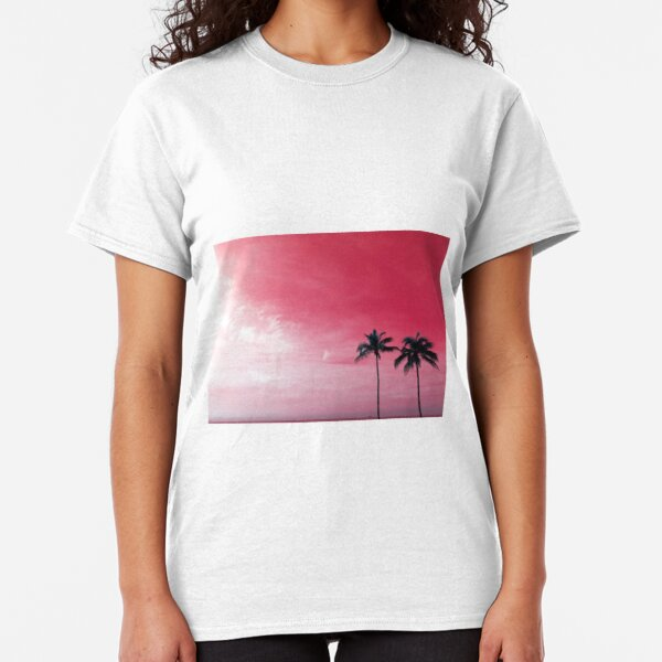 Palm Trees in the Red Sky by Jerald Simon (Music Motivation - musicmotivation.com) Classic T-Shirt