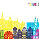 Tübinger Skyline-Pop im bearbeitbaren Vektor von paulrommer