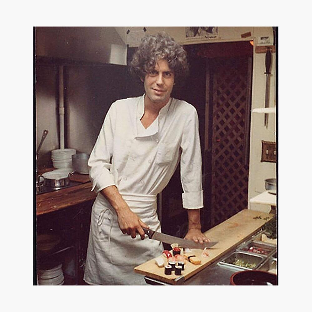 Anthony Bourdain Chefkoch Fotodruck