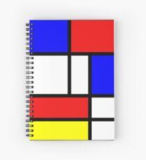 Retro Mondrian Pattern Spiral Notebook