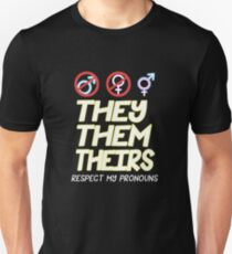 Respect My Pronouns NonBinary Unisex T-Shirt