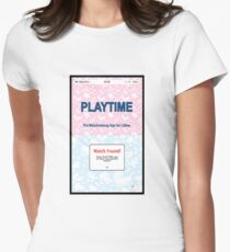 PLAYTIME - The matchmaking app for Littles Women's Fitted T-Shirt