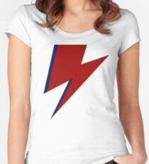 Lightning bolt  Women's Fitted Scoop T-Shirt