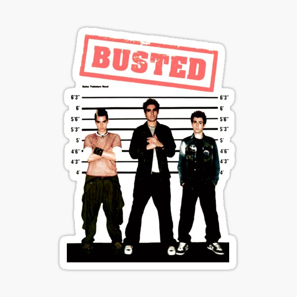 BUSTED Sticker