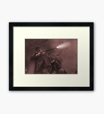 Fire!! sepia Framed Print