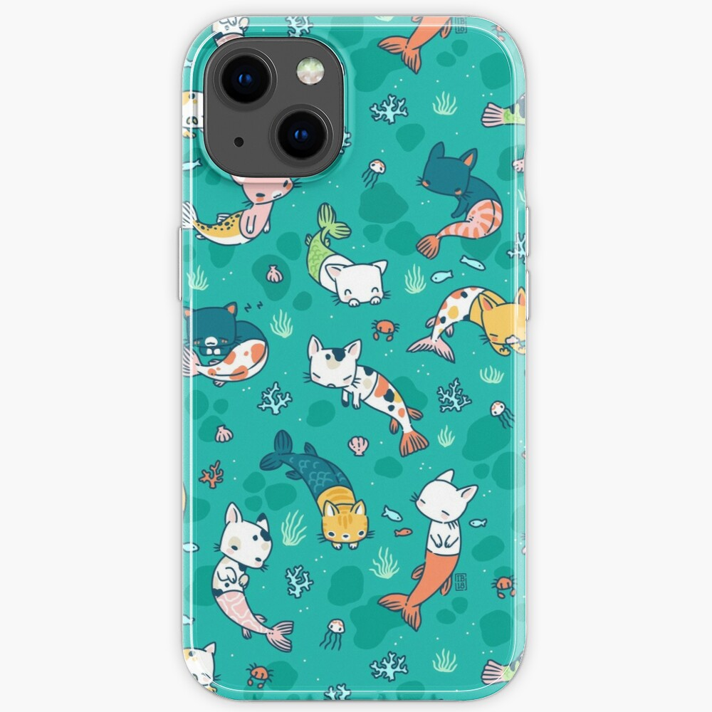 Meowmaids Teal iPhone Case