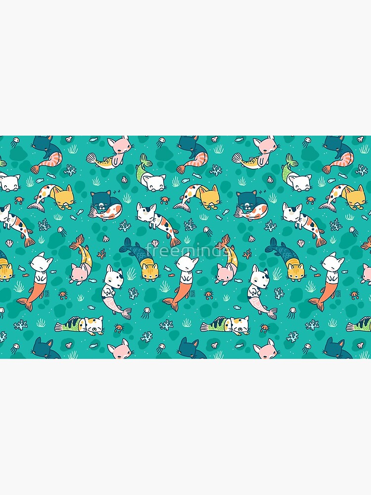 Meowmaids Teal by freeminds