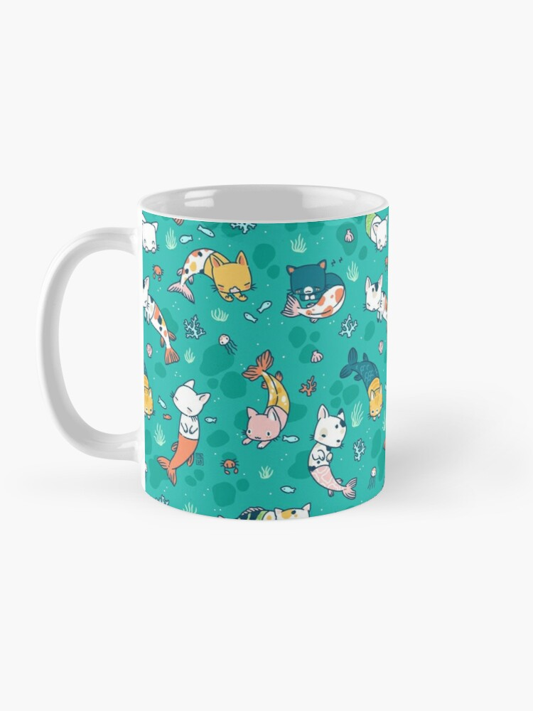Alternate view of Meowmaids Teal Mug