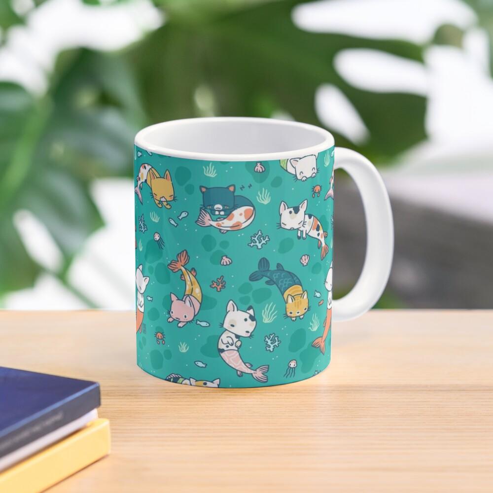 Meowmaids Teal Mug