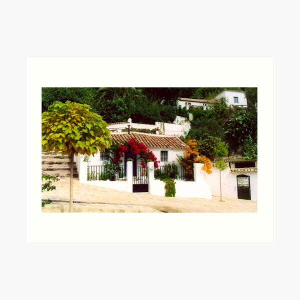 Cottage 2 Montecorto, Spain Art Print