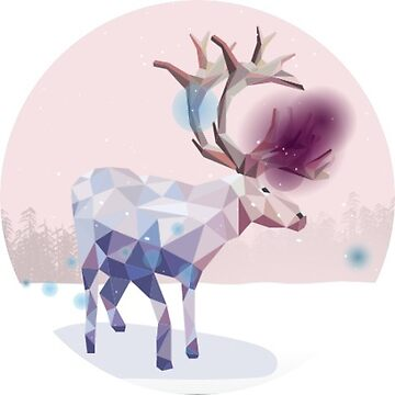 Winter Holiday Geometric Caribou Reindeer Sticker by TheKitch
