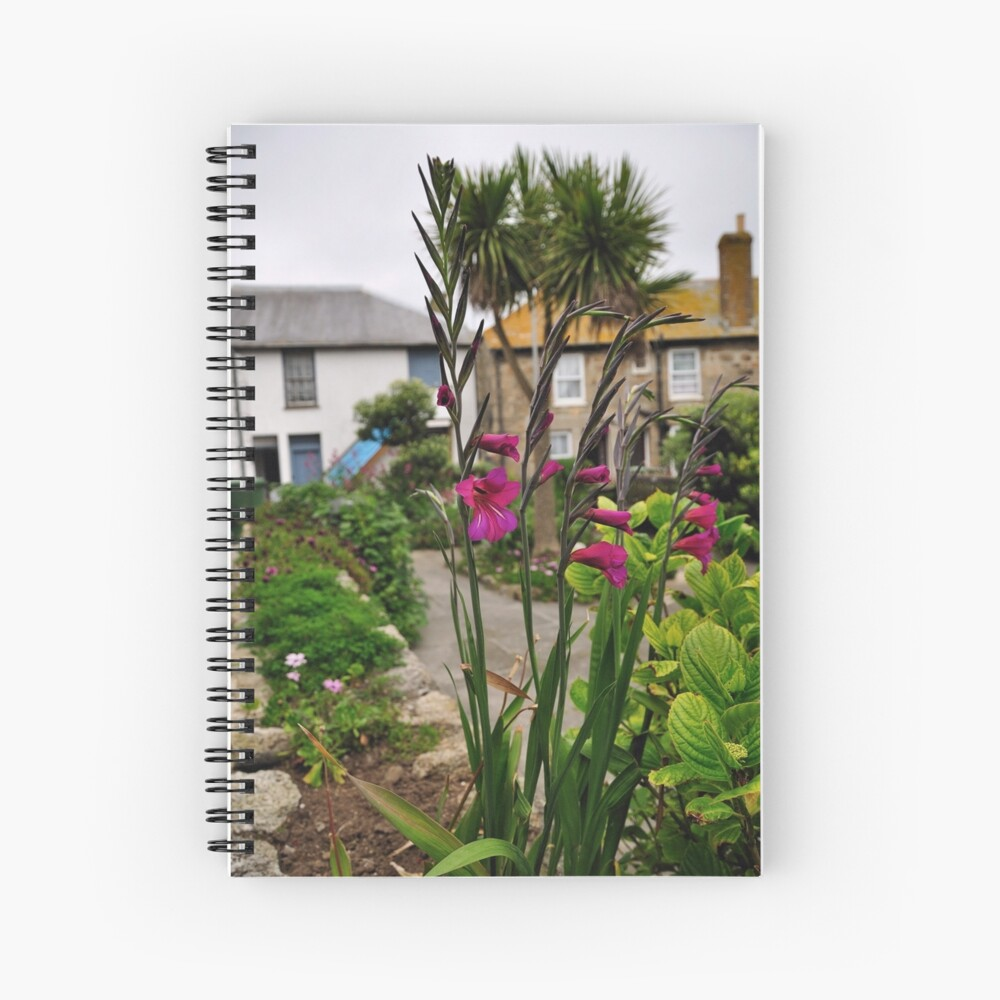 Flowers In a Border Spiral Notebook