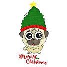 Pug Puppy Christmas by orichalbaud