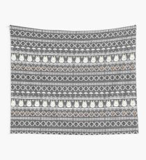 Totoro Inspired Winter Sweater Pattern Wall Tapestry