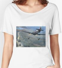WW2 Vintage Propaganda Poster Art - Attack on Japanese Convoy Women's Relaxed Fit T-Shirt