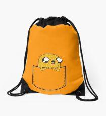 Adventure Time Pocket Jake Drawstring Bag