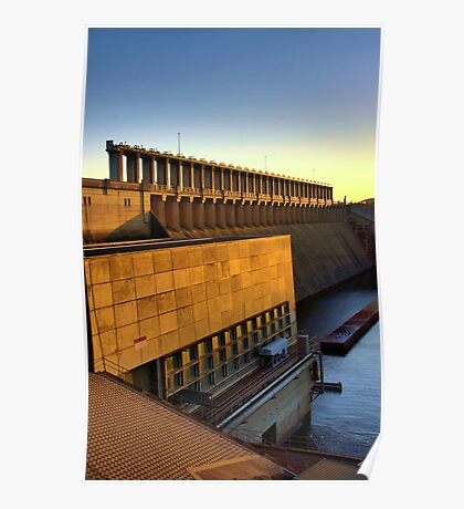 hume weir wall Poster