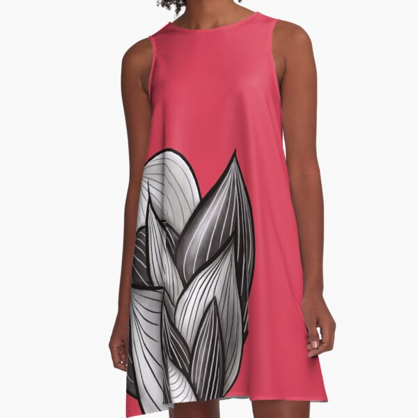 Abstract Dynamic Shapes A-Line Dress