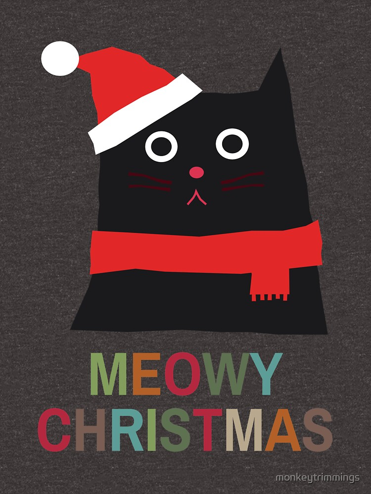 Meowy Christmas by monkeytrimmings