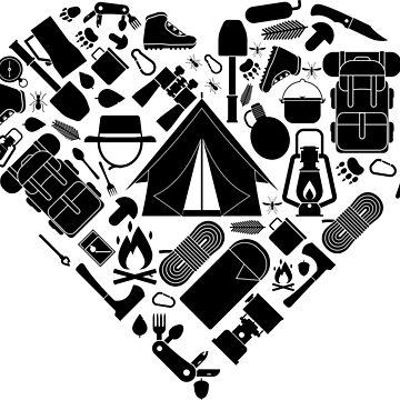 I love hiking | Wanderlust Camping Heart Nature by anziehend