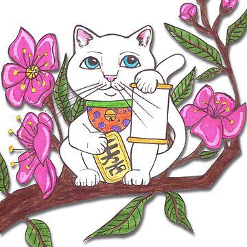 Lucky Cat by JenStedmansArt