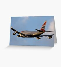 British Airways 747 Departure Greeting Card