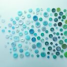 Blue to Green Buttons... by Catherine MacBride