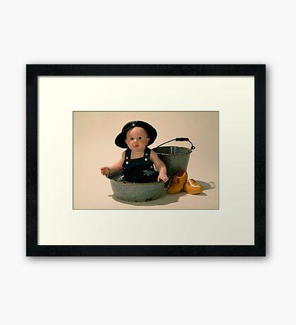 Little Dutch Boy Framed Print